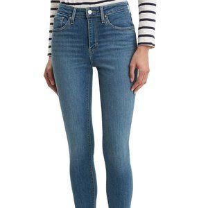 Levi's 721 High Rise Skinny Jeans Medium Wash Blue
